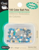 Size 17 100/Pkg - Color Ball Pins