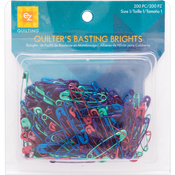 Size 1 200/Pkg - Basting Brights Safety Pins