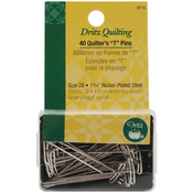 "Size 28 40/Pkg - Dritz Quilting Quilter's ""T"" Pins"
