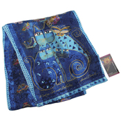 Indigo Cats W/Sequins - Laurel Burch Scarves