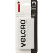 "White - VELCRO(R) Brand Industrial Strength Tape 4""X2"" 2/Pkg"