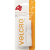 "White  - VELCRO(R) Brand Sew-On Soft & Flexible Tape 5/8""X30"""