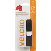 "Black - VELCRO(R) Brand Sew-On Soft & Flexible Tape 5/8""X30"""