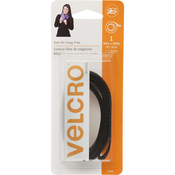 "Black - VELCRO(R) Brand Sew-On Snag-Free Tape 3/4""X18"""