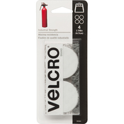 """White - VELCRO(R) Brand Industrial Strength Coins 1-7/8"""" 4/Pkg"""