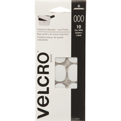 "White - VELCRO(R) Brand Industrial Strength Coins 1""X3/4"" 10/Pkg"