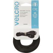 "Black - VELCRO(R) Brand ONE-WRAP(R) Thin Ties 8""X1/2"" 25/Pkg"