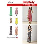 XXS-XS-S-M-L-XL-XXL - Simplicity Misses Dresses