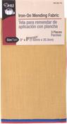 "Primary Assortment - Iron-On Mending Fabric 3-1/4""X8"" 1/Pkg"