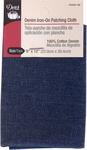 "Dark Blue Denim - Iron-On Patching Cloth 9""X12"""