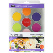 Flower Coloring #1 - Susan's Garden - PanPastel Ultra Soft Artist Pastel Set 9ml 10/Pkg