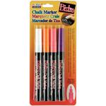 Fluorescent Violet, Orange, Red & White - Bistro Chalk Marker Fine Point Set 4/Pkg