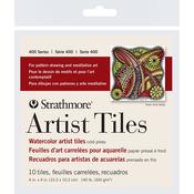 """Watercolor - Strathmore Artist Tiles 4""""X4"""" 10/Pkg"""