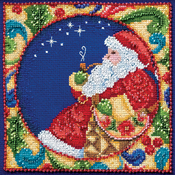 "5""X5"" 18 Count - Jim Shore Santa Counted Cross Stitch Kit"