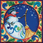 """5""""X5"""" 18 Count - Jim Shore Snowman Counted Cross Stitch Kit"""