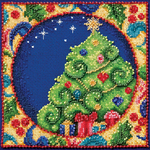 """5""""X5"""" 18 Count - Jim Shore Tree Counted Cross Stitch Kit"""