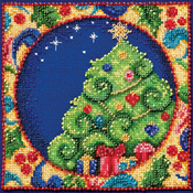 "5""X5"" 18 Count - Jim Shore Tree Counted Cross Stitch Kit"