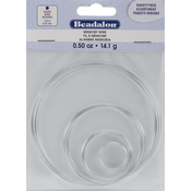Silver-Plated - 15 Coils - Memory Wire Combo Pack .62mm .5oz