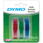 "Red, Green And Blue - Caption Maker Tape Refill 3/8""X9.8 Feet 3/Pkg"