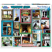 "Window Cats - Jigsaw Puzzle 1000 Pieces 24""X30"""