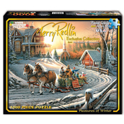 "Pleasures Of Winter - Jigsaw Puzzle Terry Redlin 1000 Pieces 24""X30"""