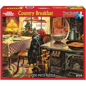 "Country Breakfast - Jigsaw Puzzle 1000 Pieces 24""X30"""