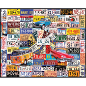 "License Plates - Jigsaw Puzzle 1000 Pieces 24""X30"""