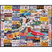 "License Plates - Jigsaw Puzzle 1000 Pieces 24""X30"""