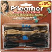 Black, Brown & Beige - P'leather Cord Pack 54'