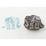 Temple Elephant - Blockwallah Block Stamp