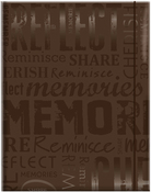 "Memories - Brown - MBI Embossed Gloss Expressions Photo Album 4.75""X6.5"""