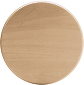 "Basswood Circle Thin Plaque - 6""X6""X.31"""