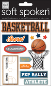 Basketball - Soft Spoken Themed Embellishments
