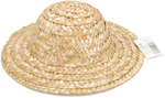 "Natural - Round Top Straw Hat 9"""