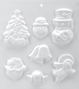 "7 Cavity - Christmas - Soapsations Soap Mold 8""X9"""