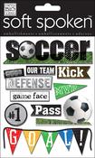 Soccer - Soft Spoken Themed Embellishments