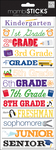 The Grades - Designer Chipboard Stickers