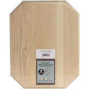 Pine Clipped Corner Rectangle Plaque
