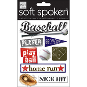 Baseball - Soft Spoken Themed Embellishments