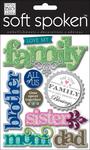 Love My Family - Soft Spoken Themed Embellishments