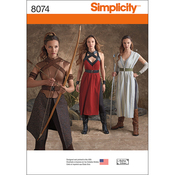 6-8-10-12-14 - SIMPLICITY MISSES' WARRIOR COSTUMES