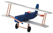 "Biplane 3.5""X8.5""X7.5"" - Wood Model Kit"