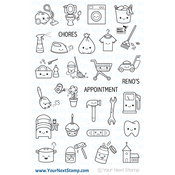 """Daily Planning - Your Next Stamp Clear Stamps 4""""X6"""""""