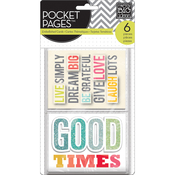 Gratitude - Me & My Big Ideas Pocket Pages Themed Embellished Cards 6/Pk