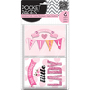 Hello Baby Girl - Me & My Big Ideas Pocket Pages Themed Embellished Cards 6/Pk