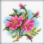 "4""X4"" 14 Count - Dog Rose Counted Cross Stitch Kit"