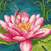 "5""X5"" Stitched In Thread - Dragon Lily Mini Needlepoint Kit"