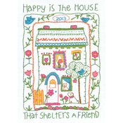 """5""""X7"""" Stitched In Thread - House Sampler Mini Embroidery Kit"""