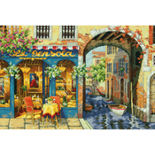 """16""""X11"""" 16 Count - Gold Collection Charming Waterway Counted Cross Stitch Kit"""