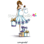 "Uptown Girl Brynn Has A Baby Shower - Stamping Bella Cling Stamp 6.5""X4.5"""